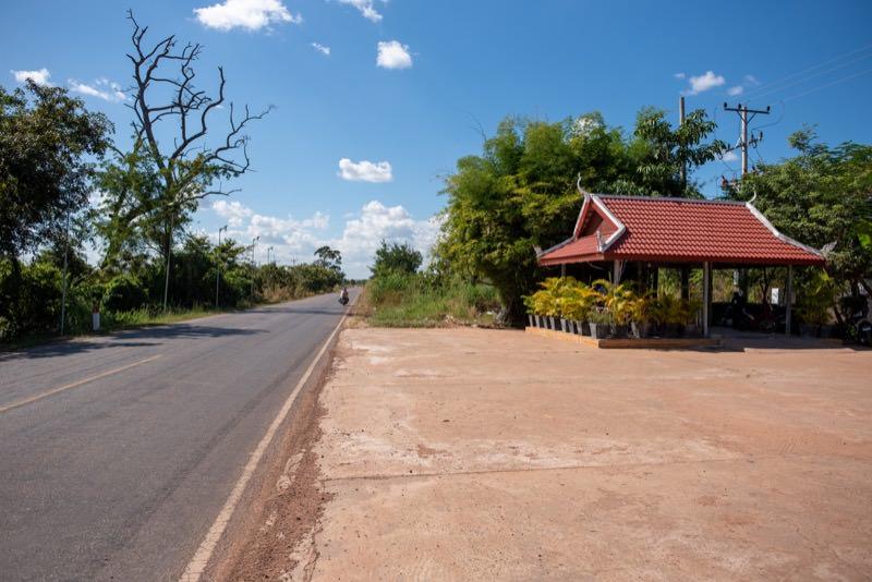 ホテル前の西側道路