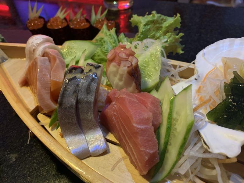 誕生会で食べたお寿司盛り合わせ