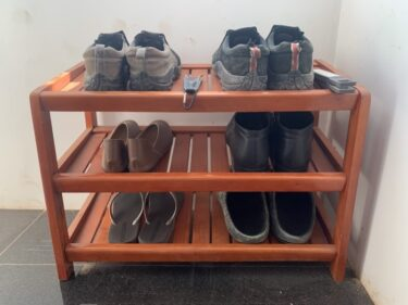 二人暮らしの靴箱