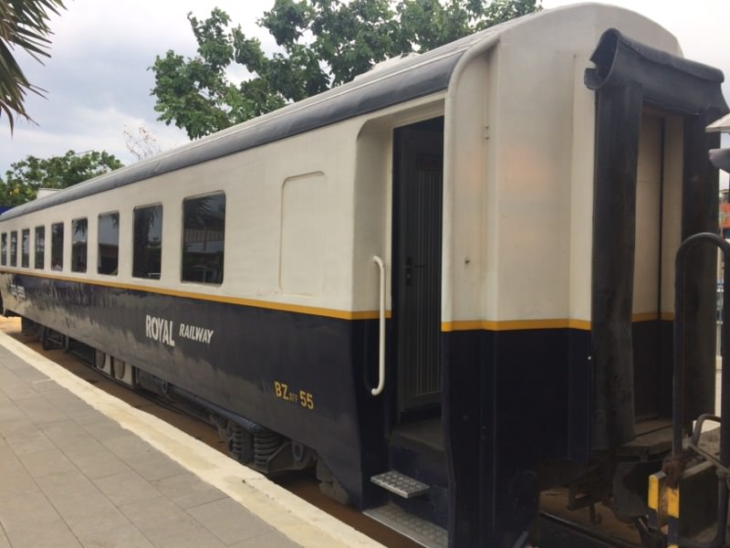 プノンペン空港からの無料電車
