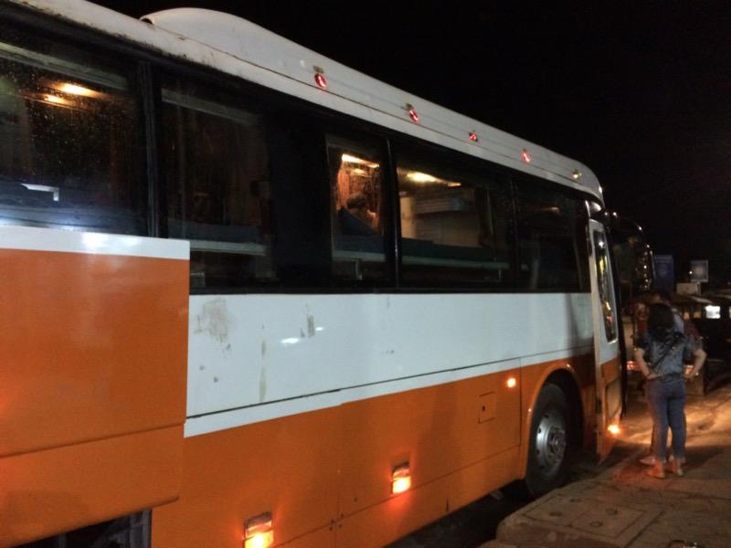プノンペン行きの深夜バス