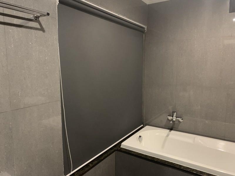 バスルームのカーテン